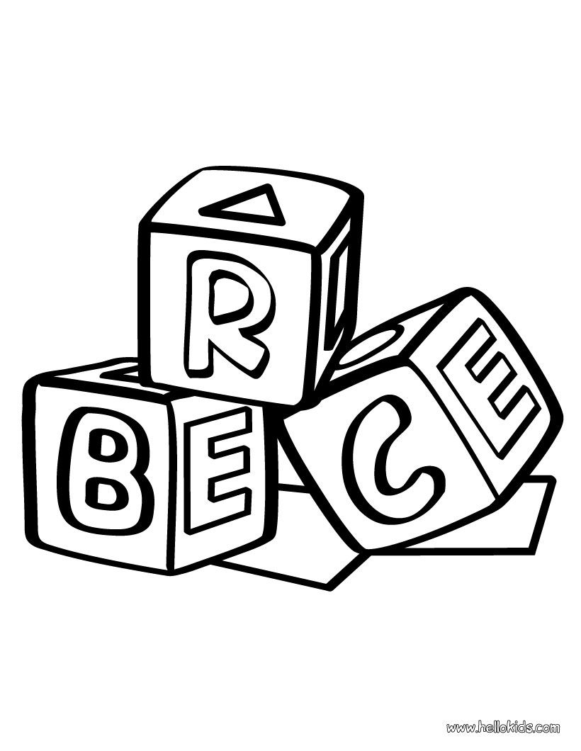 block coloring pages | Coloring pages, Lego coloring pages, Abc coloring