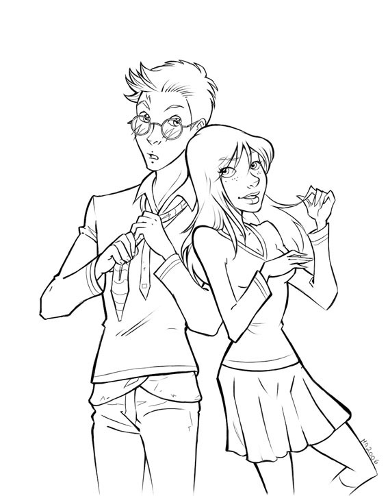 Harry Potter Ginny Coloring Page Coloring Home Ginny Weasley Coloring Pages