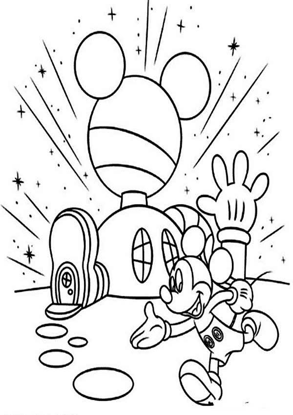 Images coloring pages mickey mouse house of mouse for Mickey clubhouse coloring pages