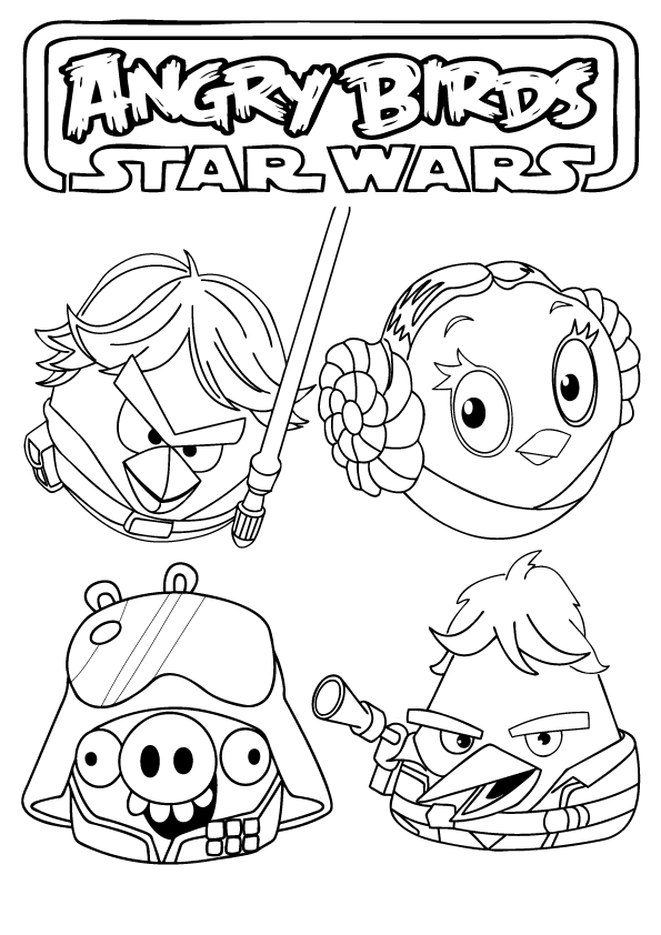 Free Printable Angry Birds Star Wars Coloring Pages