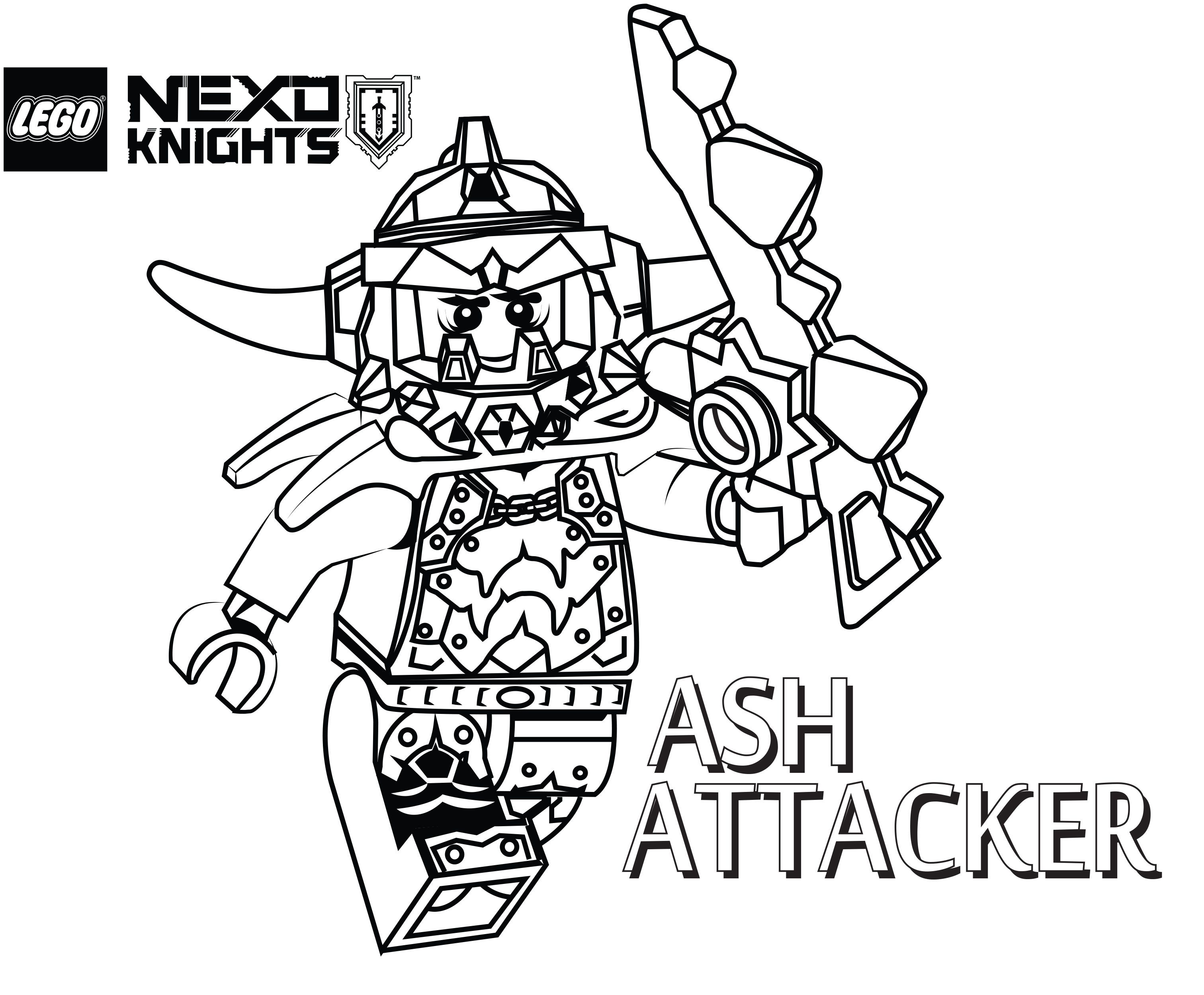 Nexo Lego Knights Coloring Pages Sketch Coloring Page - Coloring Home