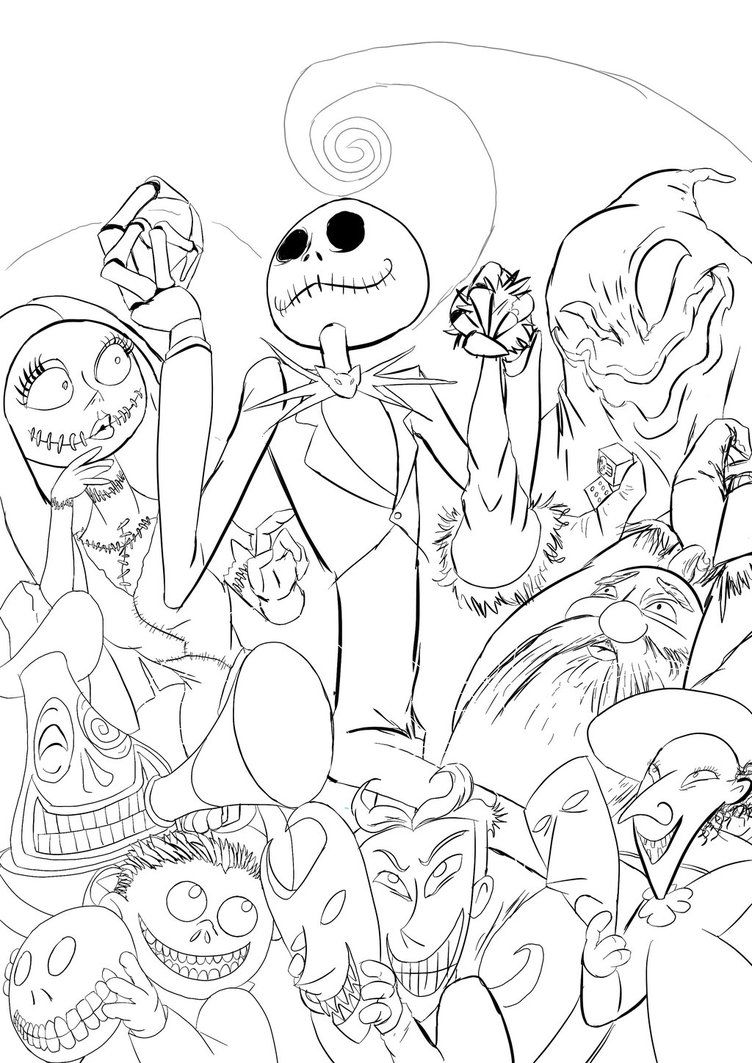 The Nightmare Before Christmas Coloring Pages Coloring Home Nightmare Before Color Pages