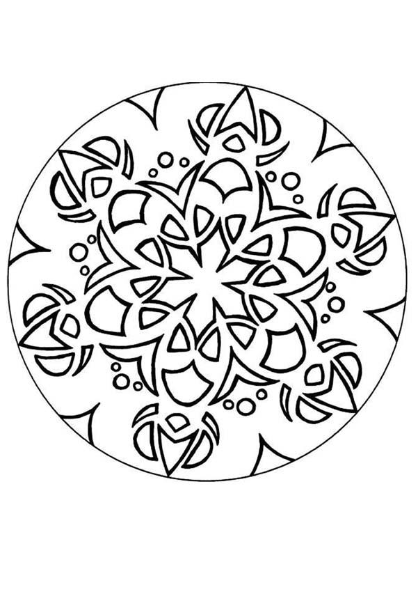 Snowflake Mandala - Coloring Pages For Kids And For Adults ...