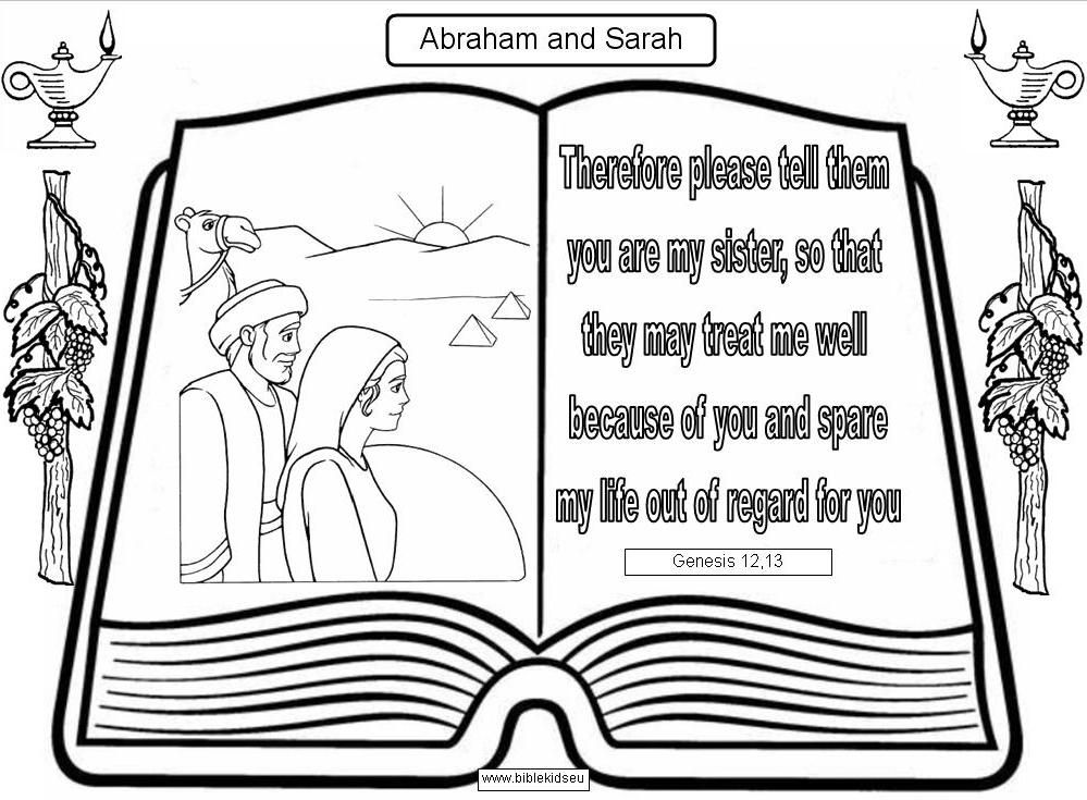 Coloring Pages Sarah And Abraham
