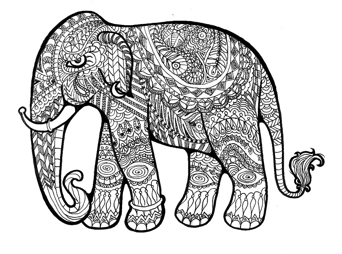 Advanced Coloring Pages Tribal - Coloring Pages For All Ages
