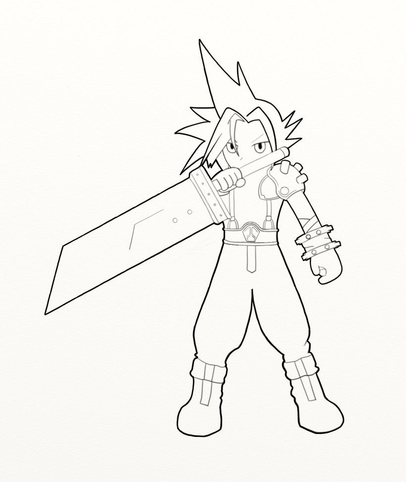 ff coloring pages - photo#5