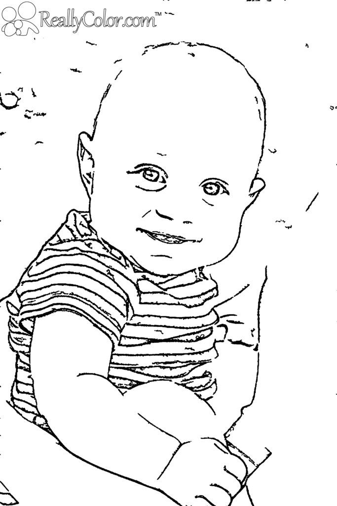 baby clotheline coloring pages | Baby Boy Coloring Pages - Coloring Home