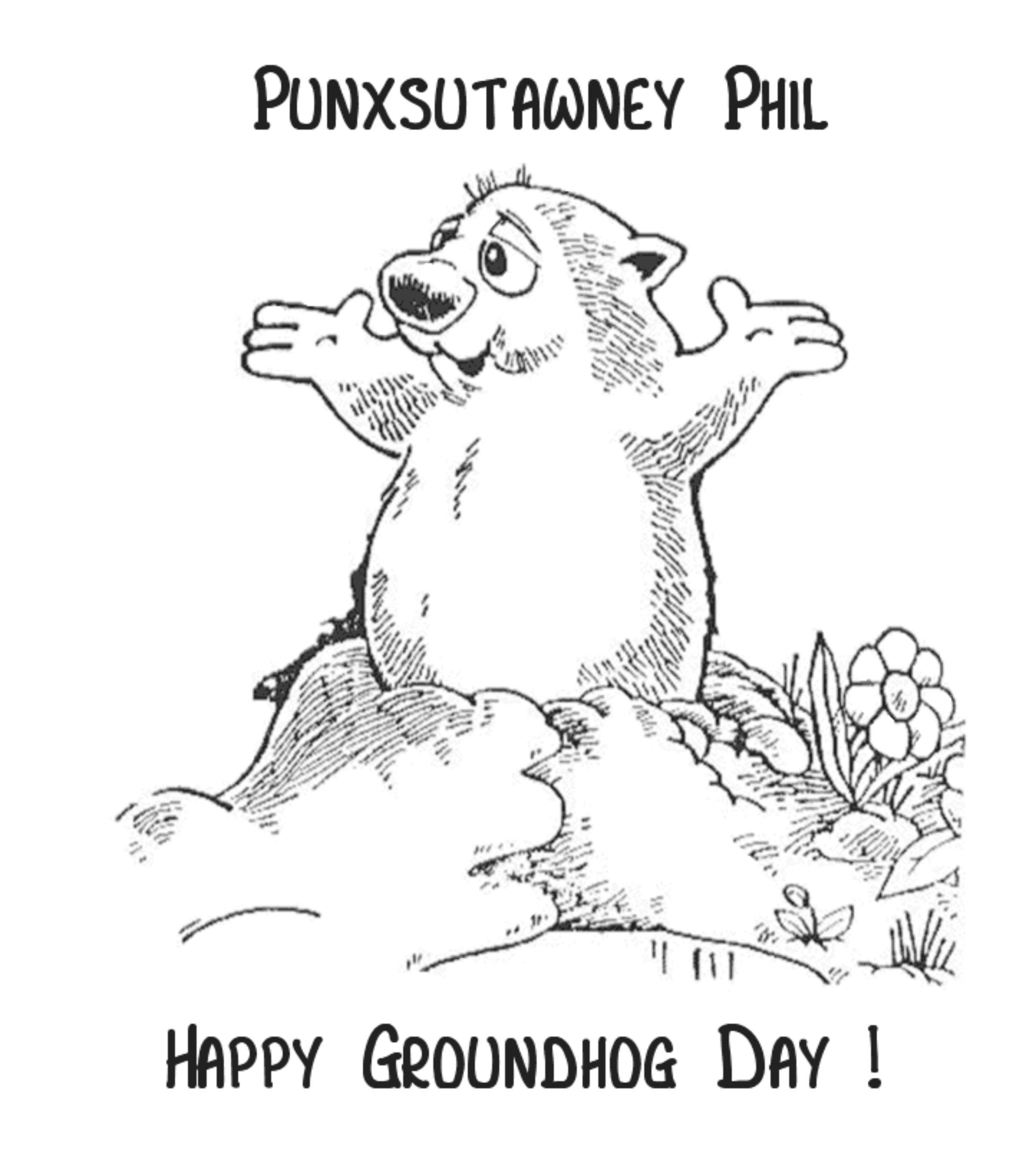 Groundhog Day Coloring Pages Free Printable  Coloring Home