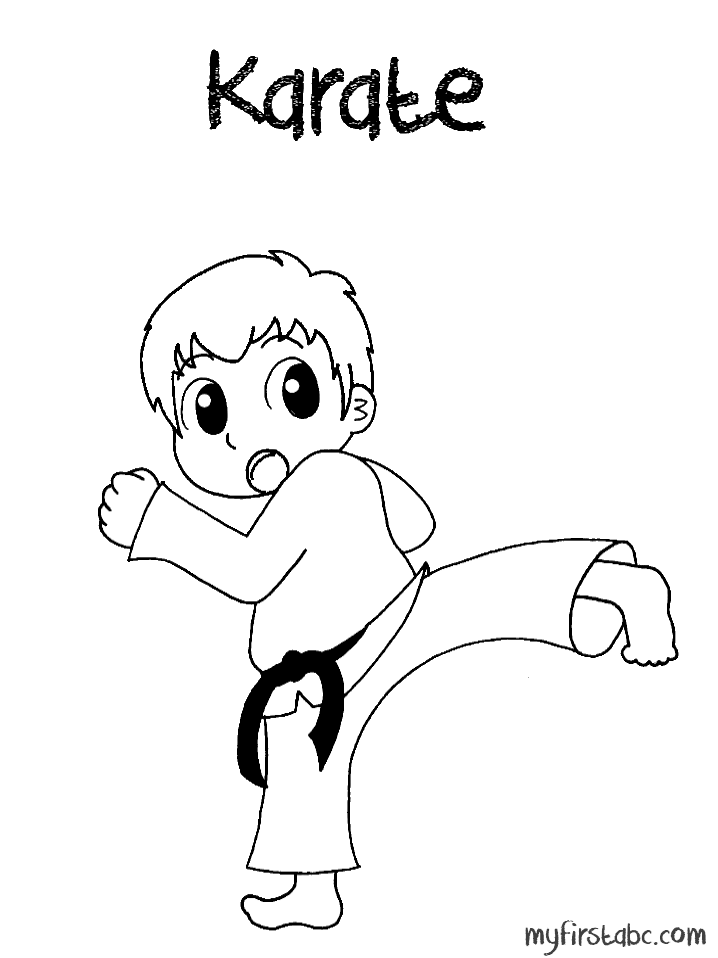 free karate coloring pages - photo#24
