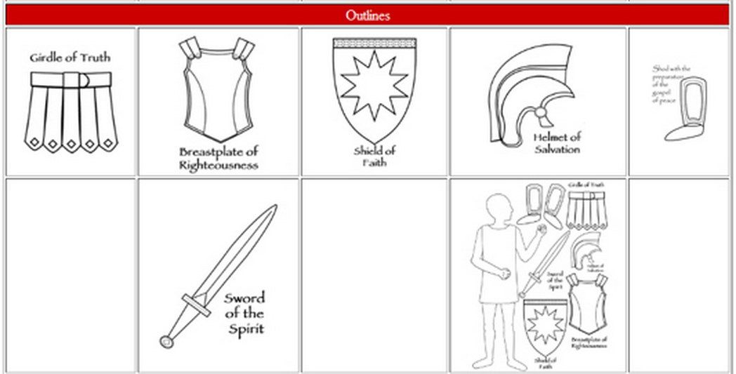 Armor Of Coloring Pages - Coloring Page