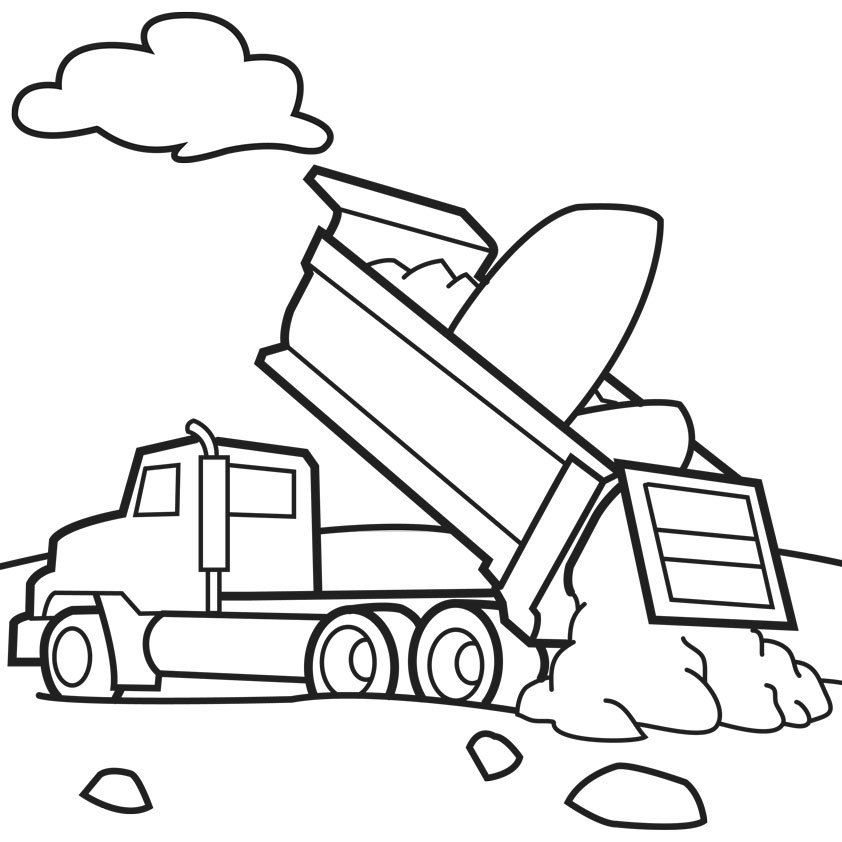 trash truck coloring pages - photo#13