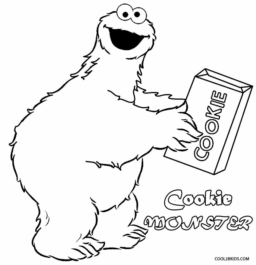12 pics of printable coloring page of cookie monsters face