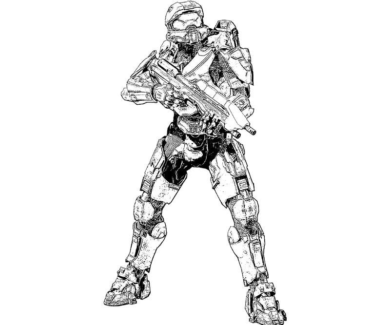 Printable halo coloring pages coloring home for Master chief coloring pages
