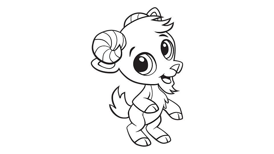 Baby Goat Coloring Pages Printable
