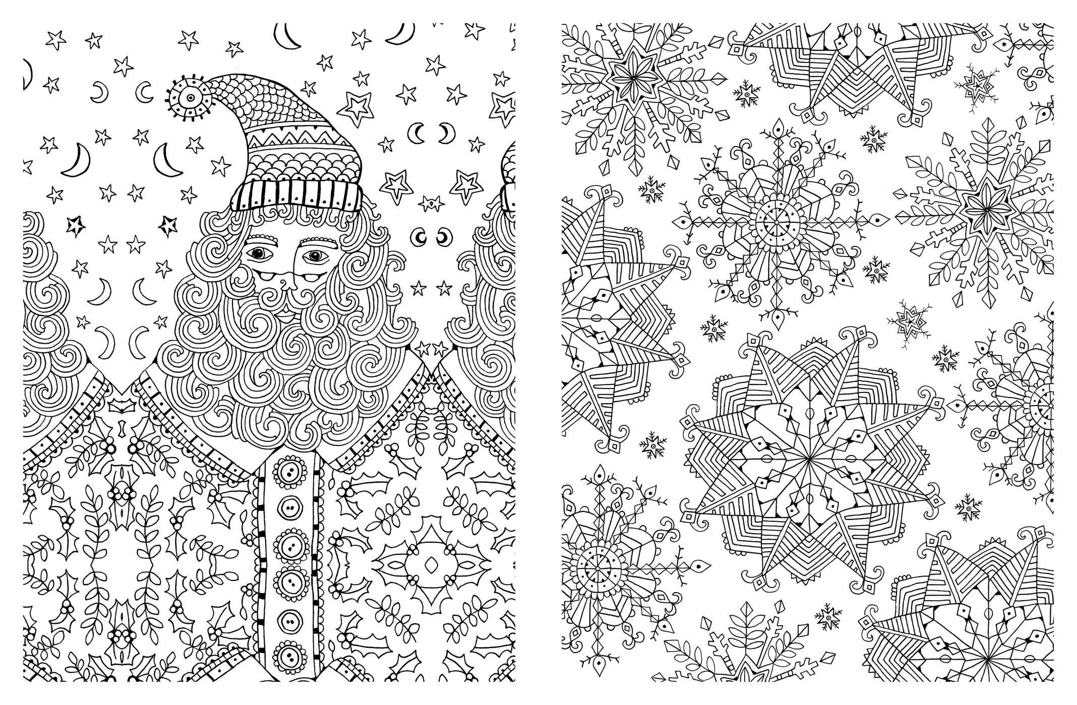 coloring book pages christmas - christmas adult coloring pages coloring home