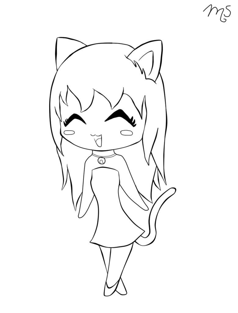 14 pics of cute anime cat girls coloring pages cute anime chibi coloring home Cute Anime Cat Coloring Pages  Cat Girl Coloring Pages
