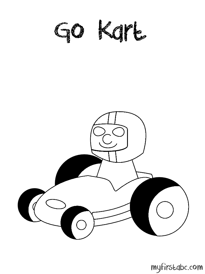 free go kart coloring pages - photo#19