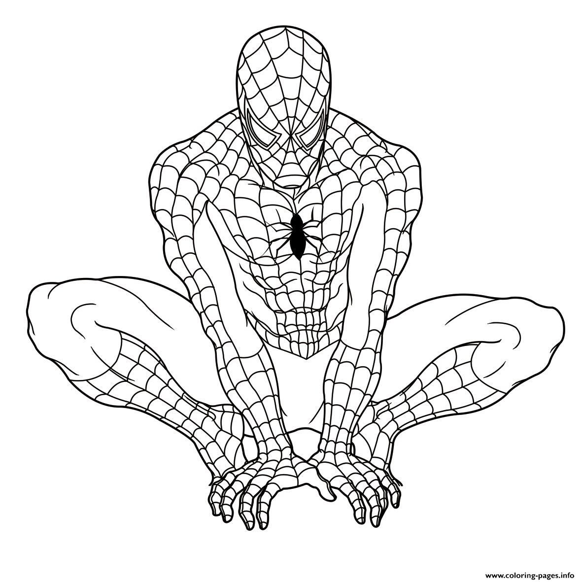 spectacular spiderman coloring pages - photo#13
