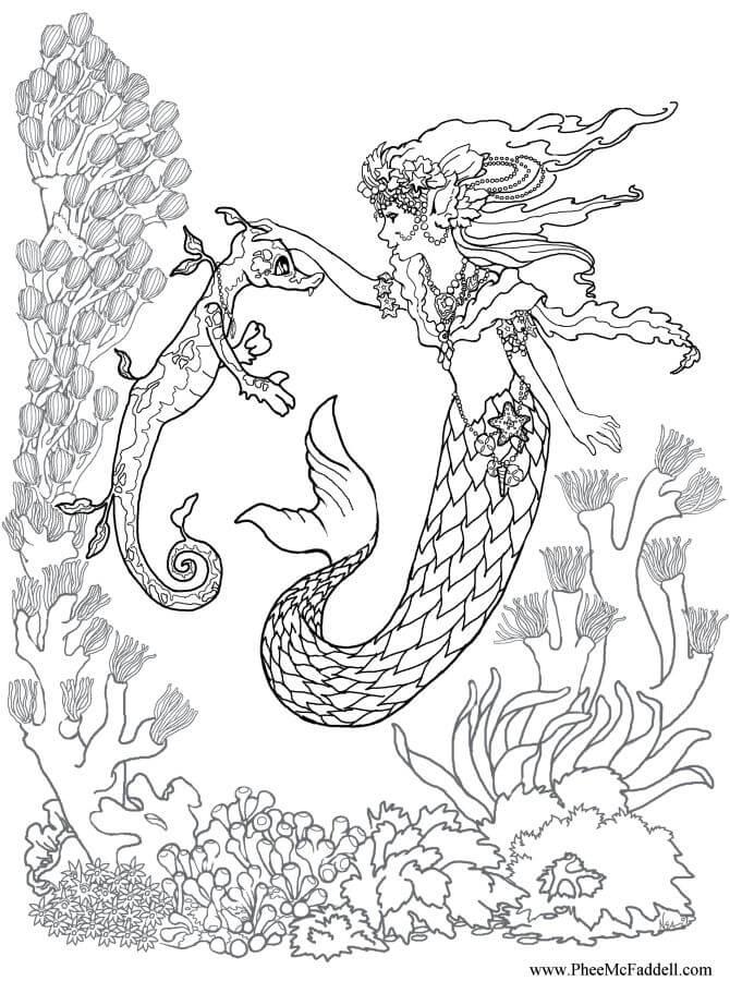 Mako Mermaids Coloring Pages