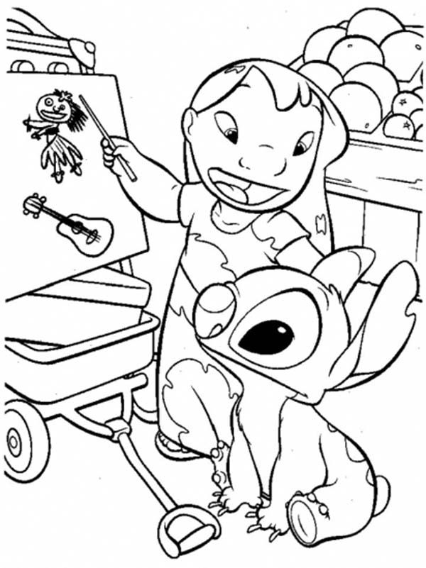 Coloring Pages For Lilo And Stitch