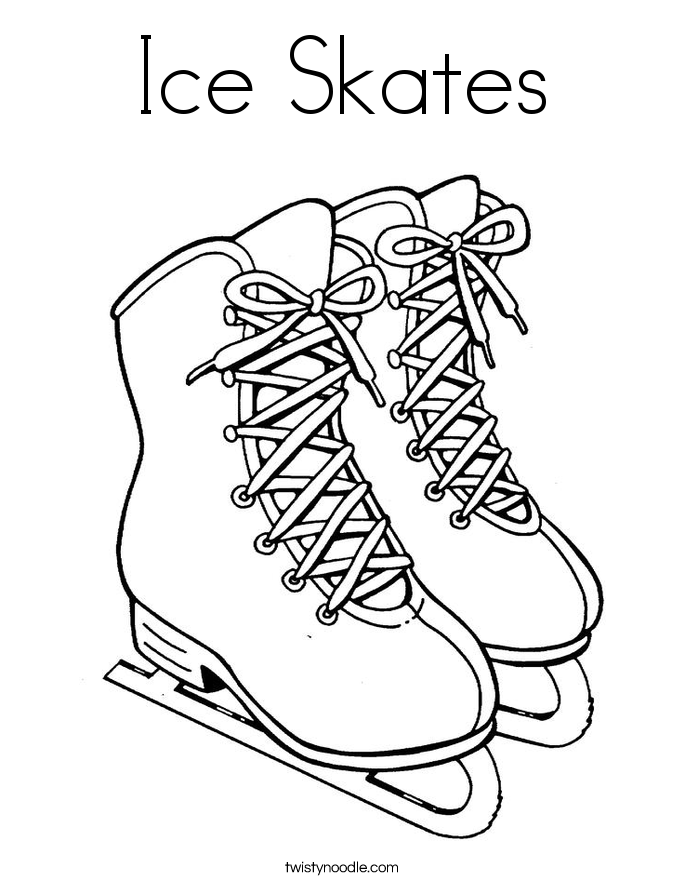 Winter Sport Coloring Pages Printable