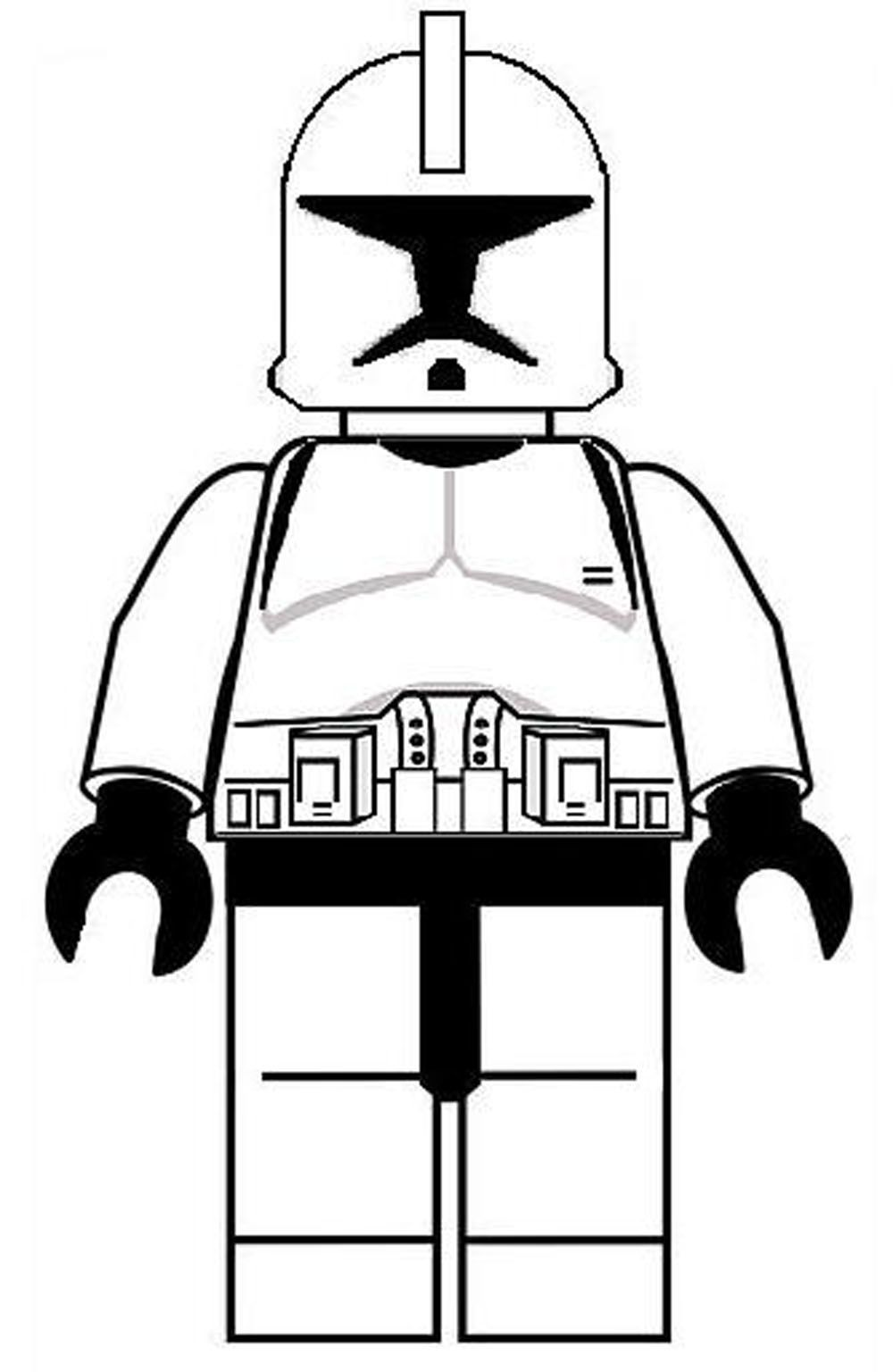 Free coloring pages to print star wars -  Lego Star Wars Luke Skywalker Coloring Pages Printable Kids