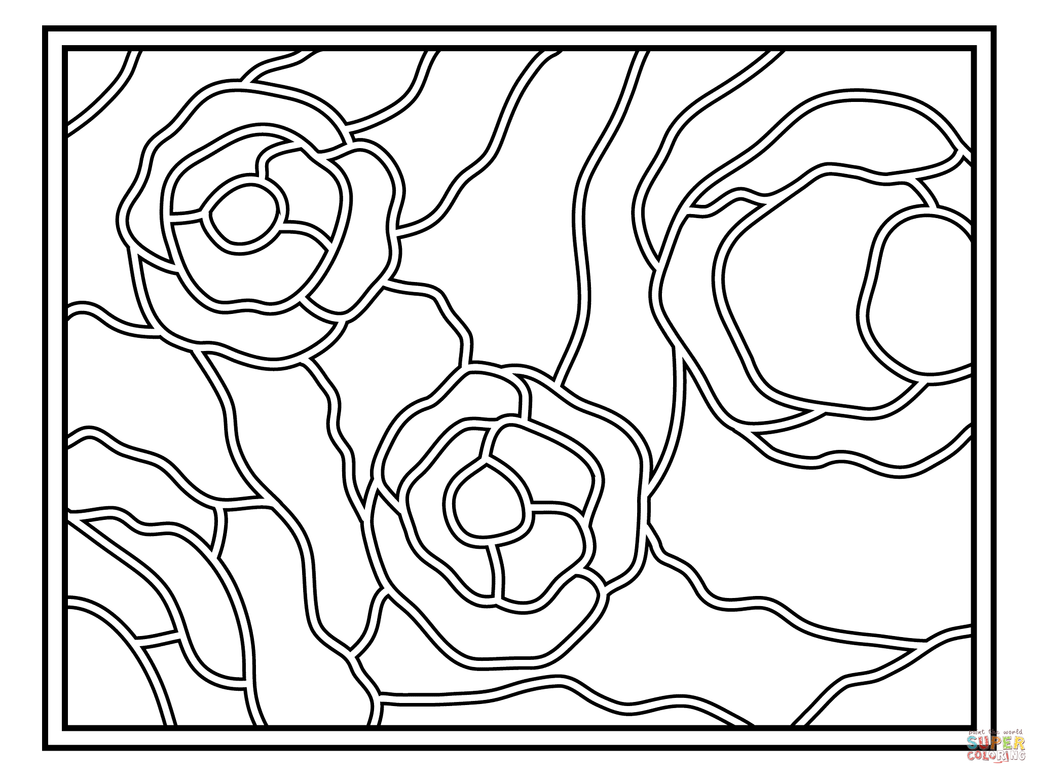 simple stained glass coloring pages - photo#36