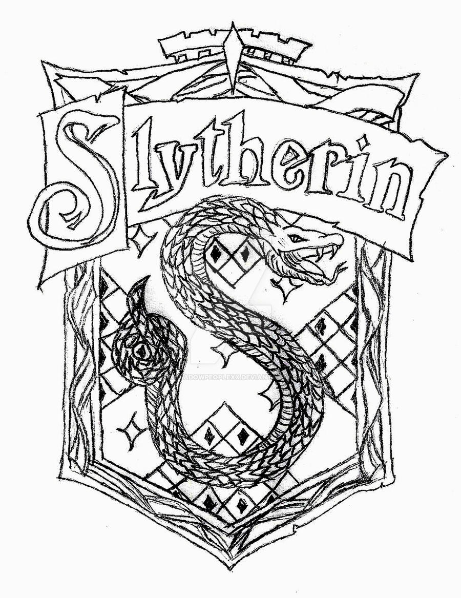 Harry potter house coloring pages