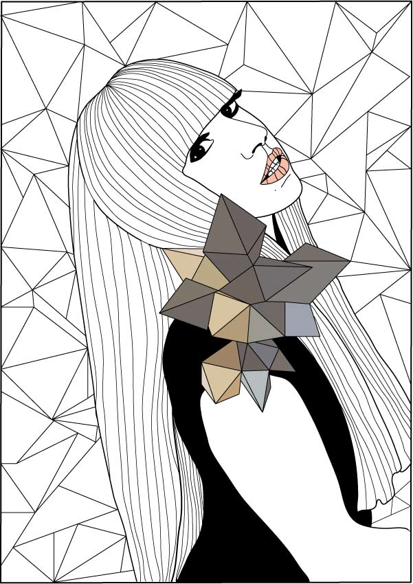 Lady Gaga Coloring Pages Coloring Home Gaga Coloring Pages