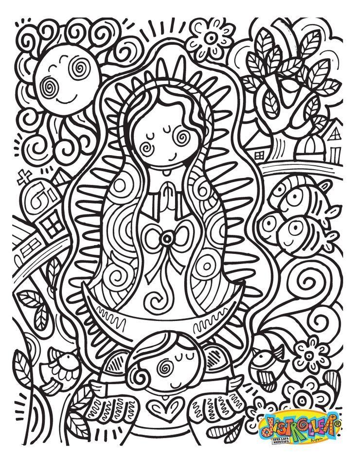 virgen coloring pages - photo#9