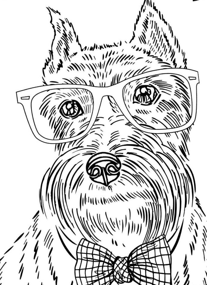 free printable dog coloring pages for adults | Dogs Coloring Pages Difficult Adult - Coloring Home