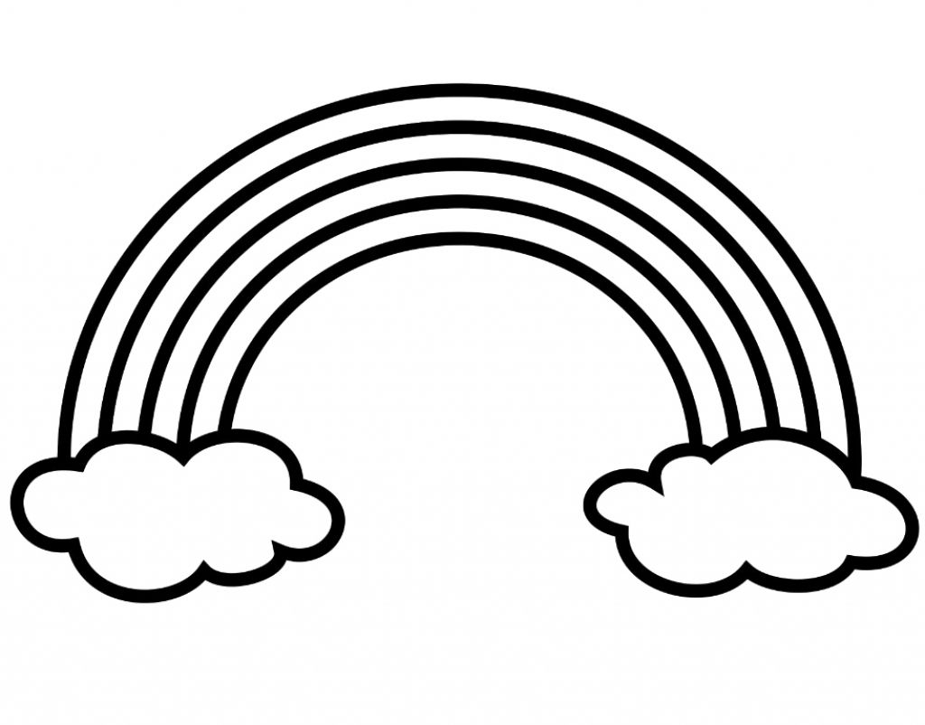 - Black And White Rainbow Coloring Page - Coloring Home