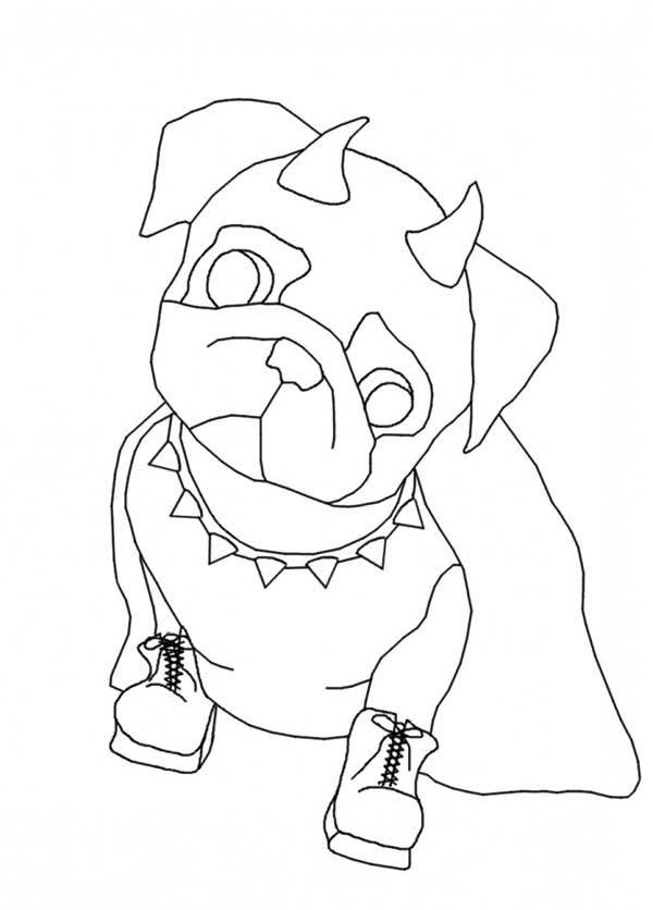 Pug dog coloring pages az coloring pages for Pug coloring pages to print