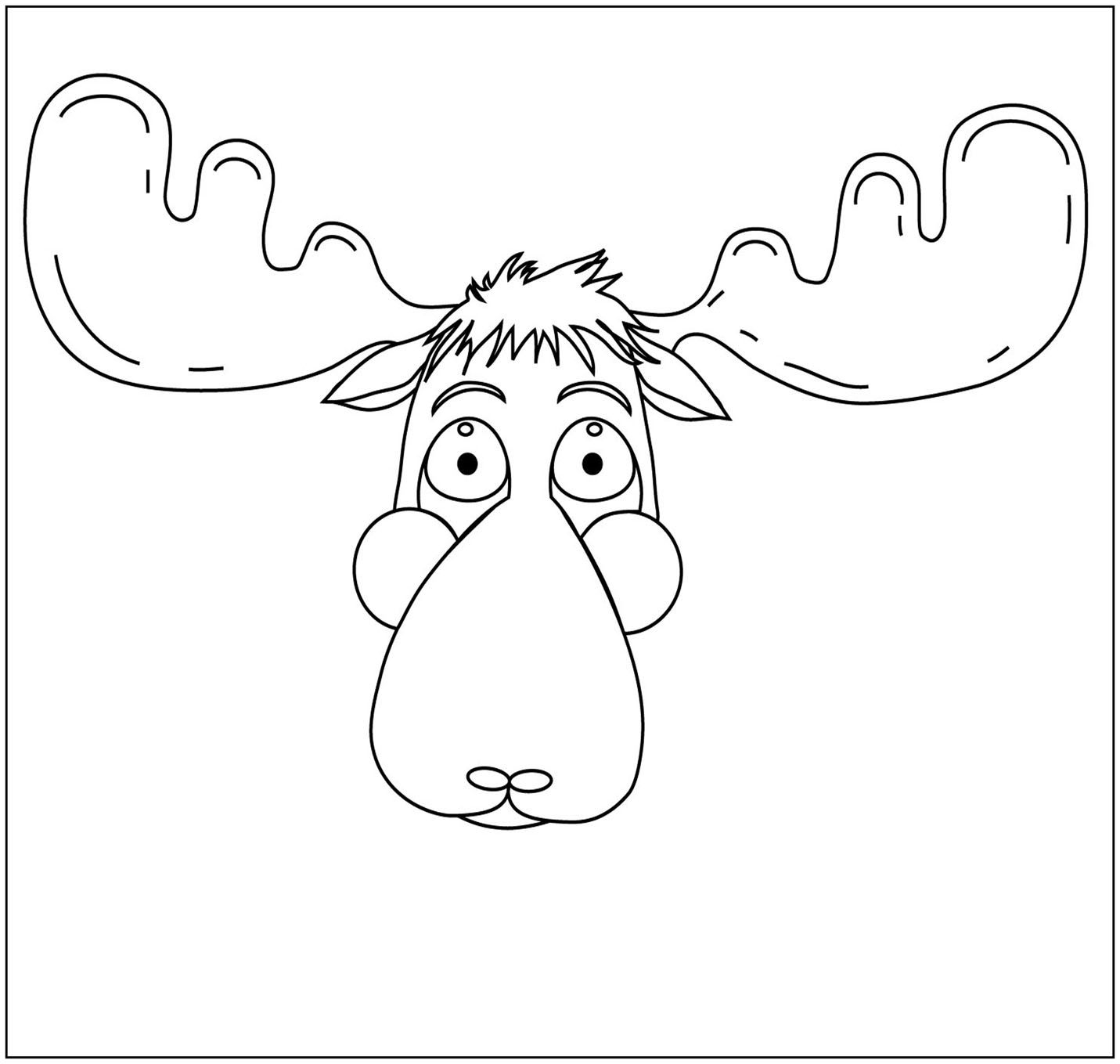 moose head coloring pages hicoloringpages