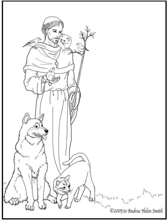 St Francis Of Assisi Coloring Pages Az Coloring Pages Coloring Pages For St