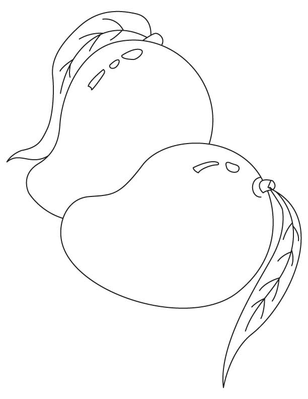 Mango Coloring Pages 5