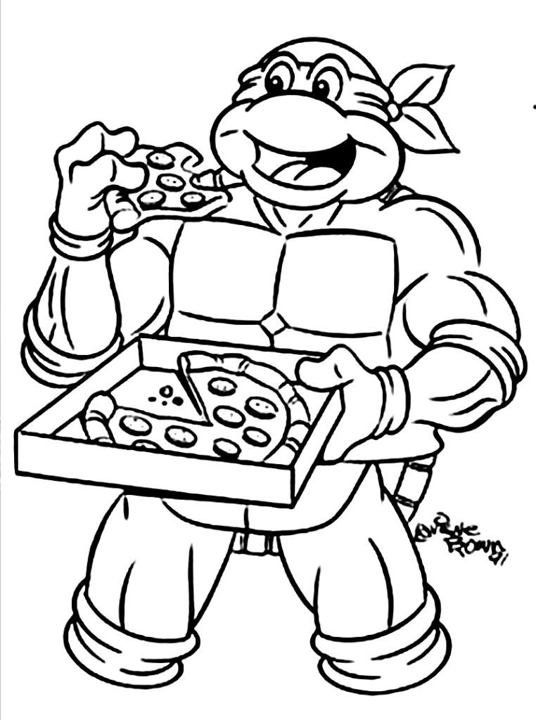 Free printable teenage mutant ninja turtles coloring pages for Coloring pages turtles ninja