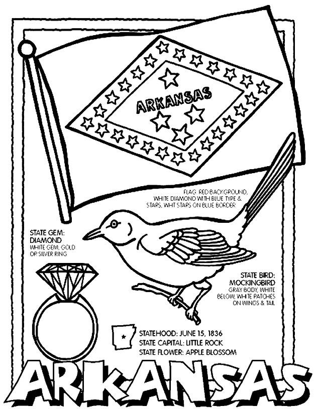 Arkansas coloring page | Homeschool stuff | Pinterest | Coloring ...