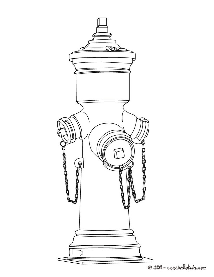 coloring pages fire hydrants - photo#4