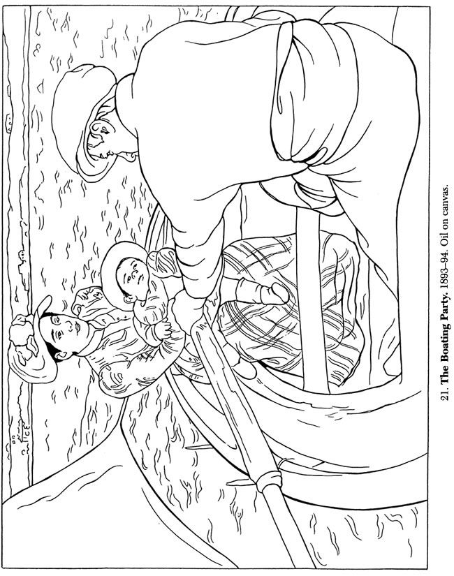 Mary Cassatt Coloring Pages Coloring Home