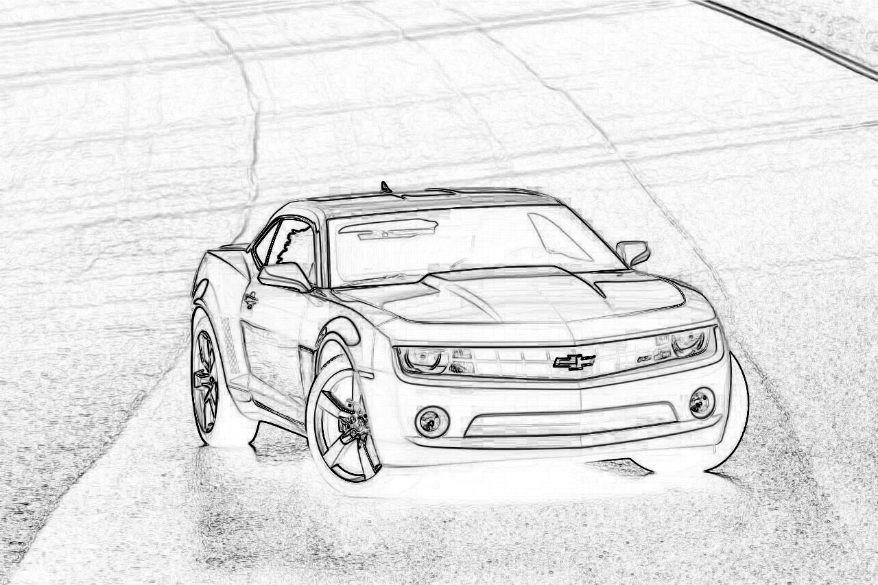 camaro coloring pages - photo#39