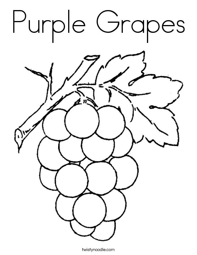 Purple Grapes Coloring Page Twisty Noodle Coloring Home Coloring Pages Twisty Noodle