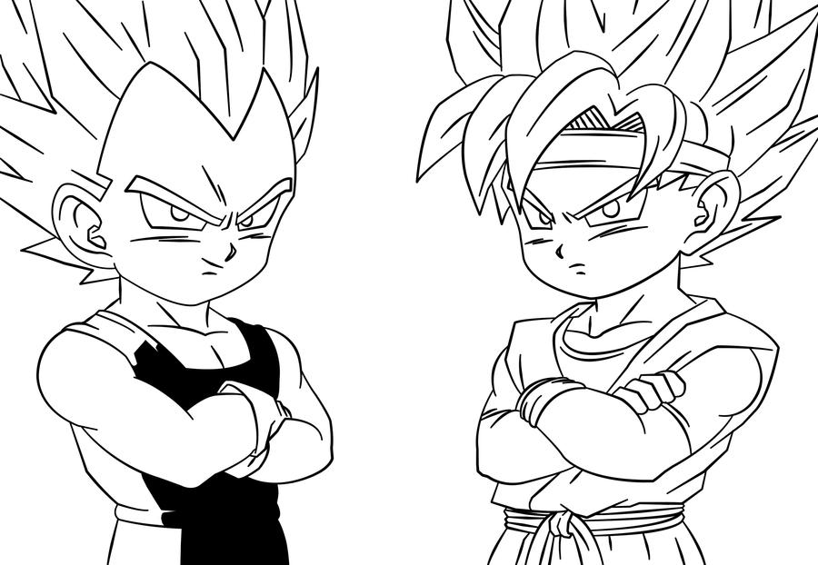 Desenho De Saiyan Para Colorir: Coloring Pages Vegeta And Goku