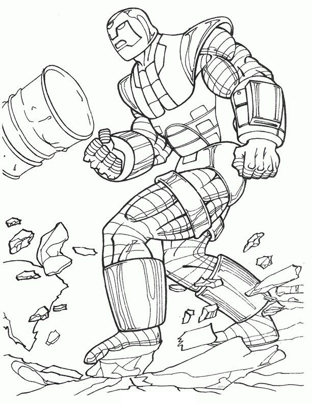 Lego Iron Man Coloring Pages 3