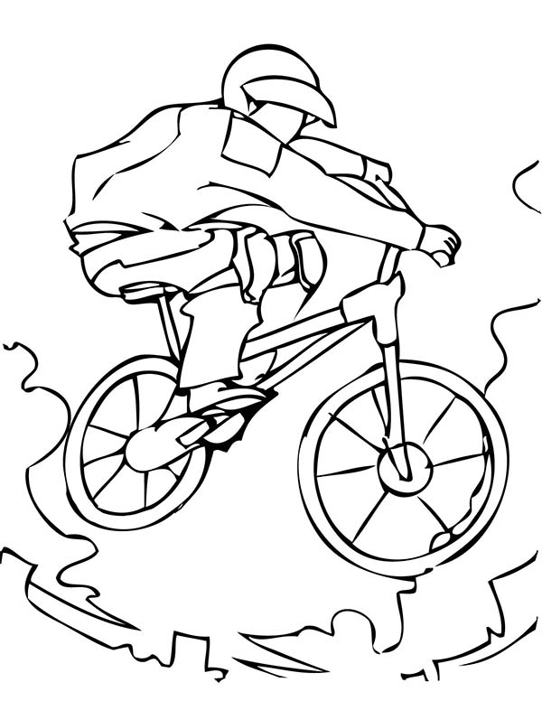 bmx coloring pages az coloring pages Coloring BMX Track  Bmx Coloring Pictures