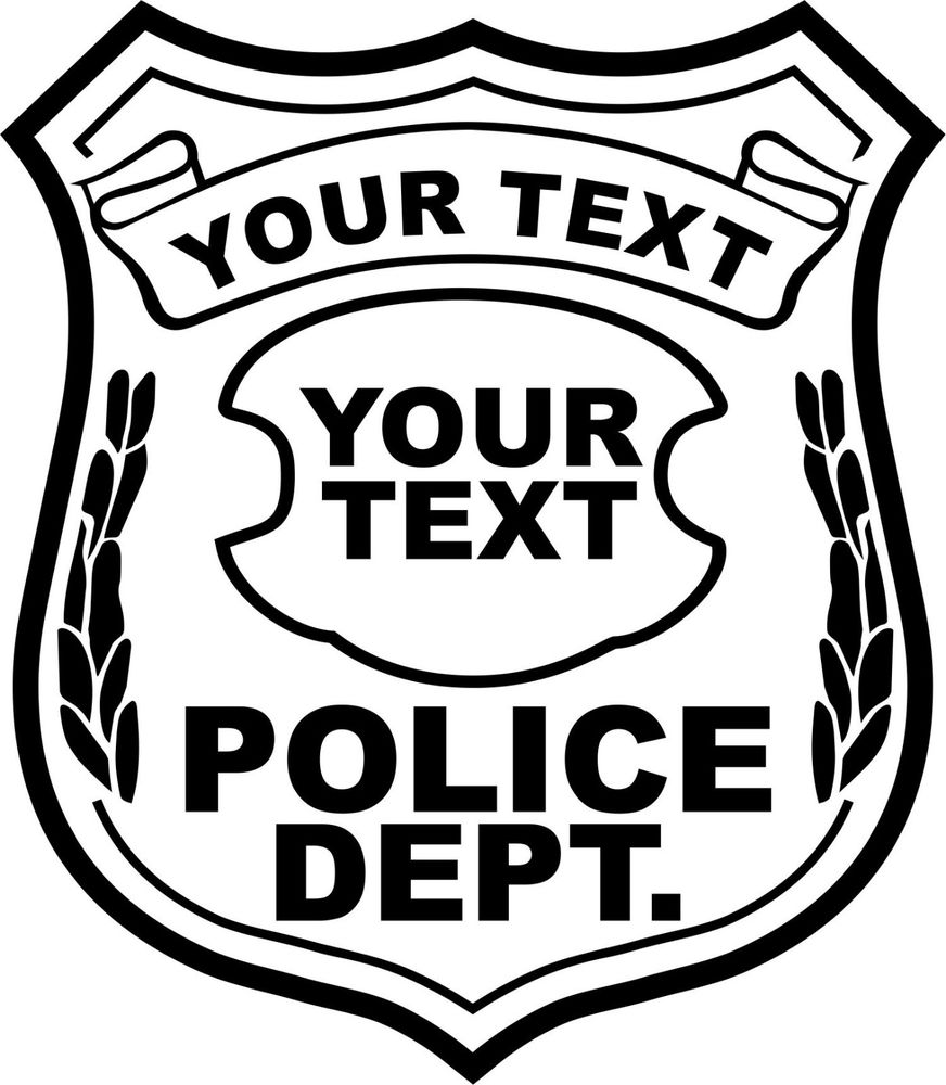 Police Badges Coloring Page