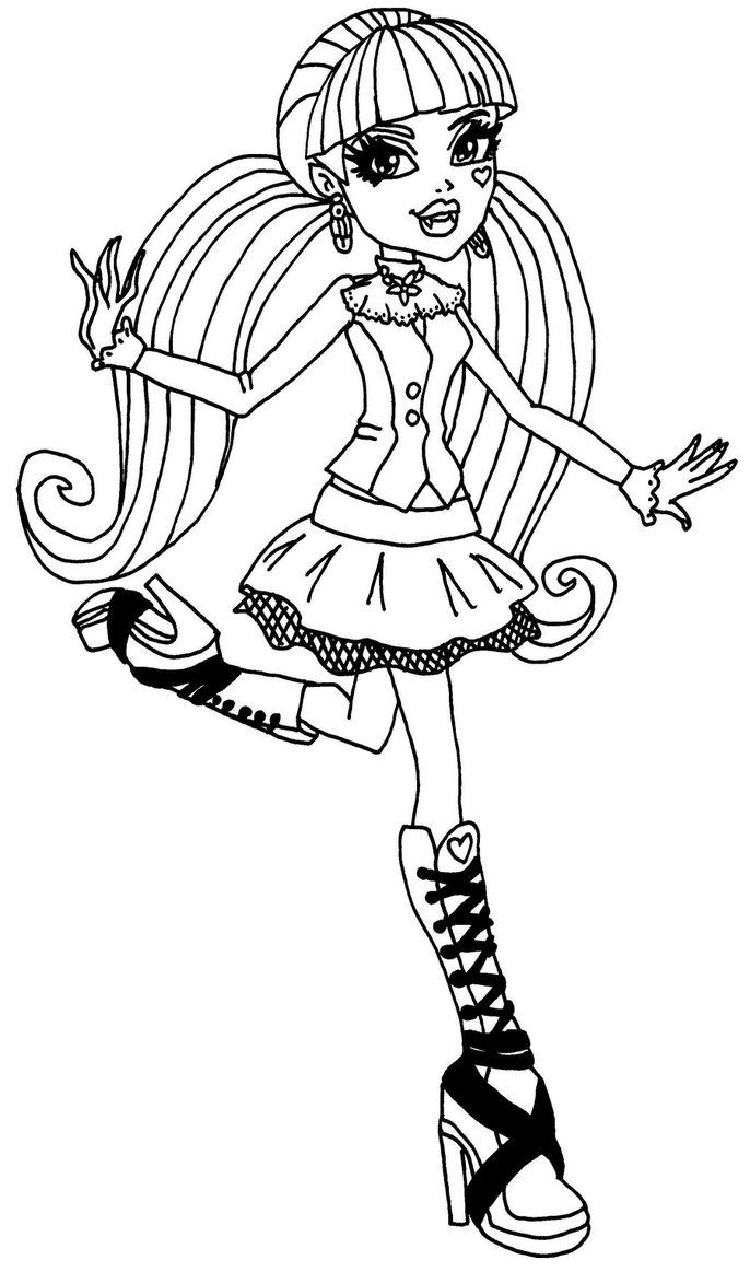 Monster High Draculaura Coloring Pages Coloring Home