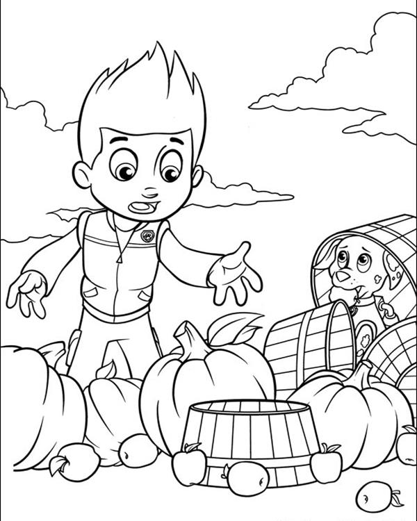 Ryder and Marshall - Paw Patrol Coloring Pages
