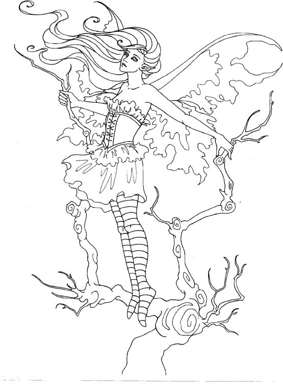 Amy Brown Coloring Page  Coloring Home