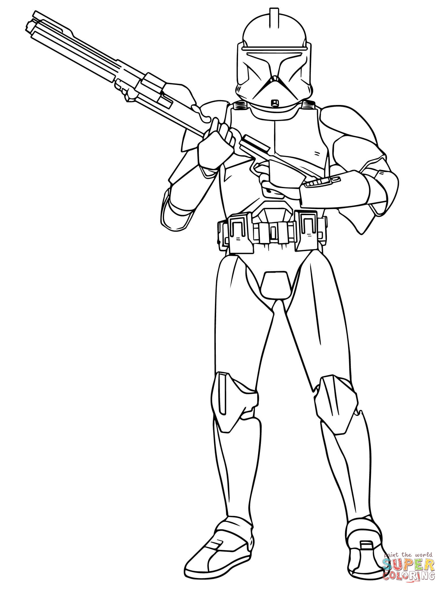 Boba Fett coloring page | Free Printable Coloring Pages